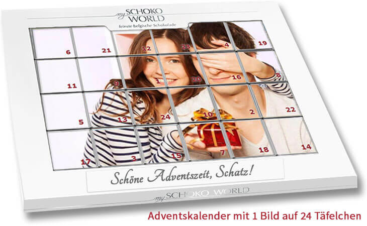 adventskalender mit foto my schoko world. Black Bedroom Furniture Sets. Home Design Ideas