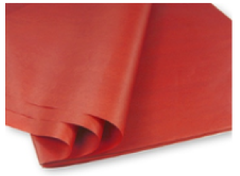 rotes-Seidenpapier